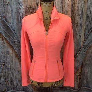 Lululemon coral zip front jacket